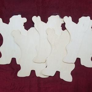 5 wood Santa DIY templates